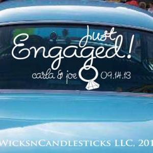 Engagement Car Decals-Just Engaged