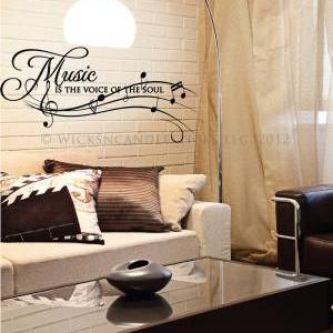Inspirational Wall Decals-Music is ..
