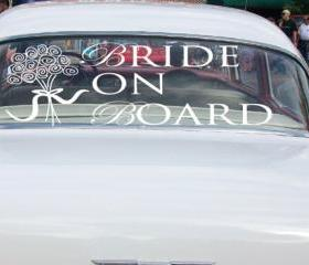 Wedding Car Decals B..