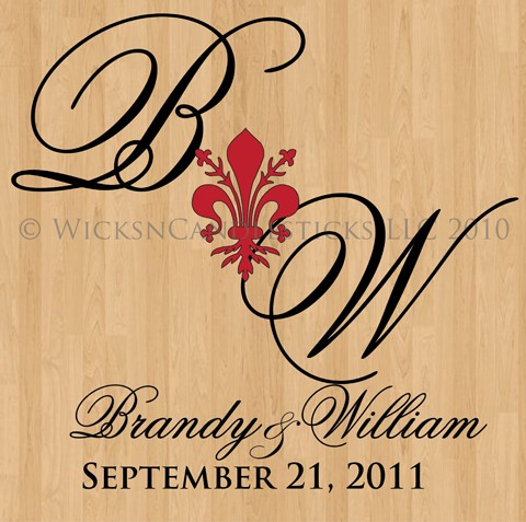 Wedding Dance Floor Decals-The French Lily