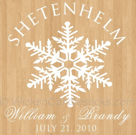 Wedding Dance Floor Decals Winter Wonderland