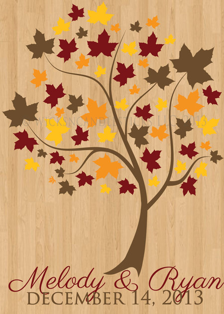 Wedding Dance Floor Decals Meaningful Maple Tree