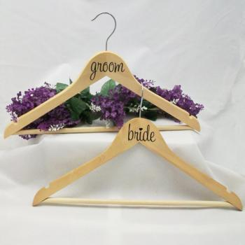 DIY Bride and Groom Stickers for Hangers